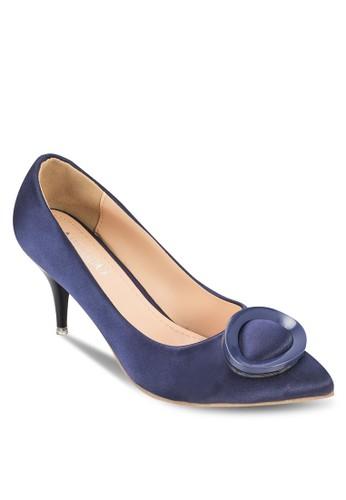 扣環尖頭中跟鞋,esprit 門市 女鞋, 厚底高跟鞋