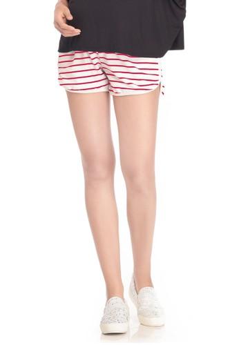 MOOIMOM white MOOIMOM Casual Maternity Shorts Celana Pendek Ibu Hamil - Red MO368AA69VBEID_1