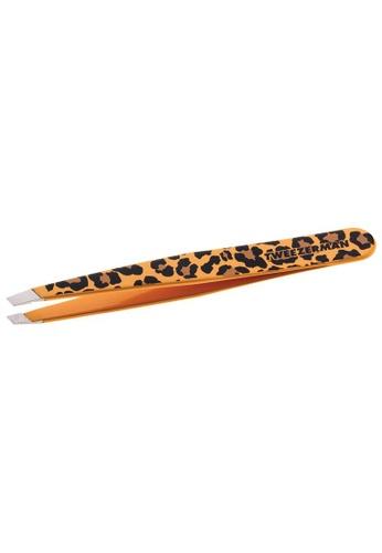 Tweezerman brown Tweezerman Slant Tweezer Leopardprint TW456BE0FPBRSG_1
