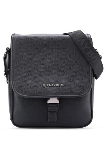 Playboy black Playboy Sling Bag PL371AC04MSTMY_1