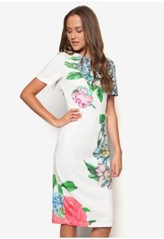 Eden White Floral Midi Dress
