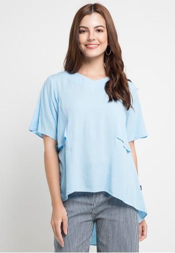 Lois Jeans blue Rayon 92 Blouse 9113DAA381BA7AGS_1