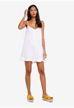 2fe723364e2 Cotton On Woven Lily Strappy Frill Playsuit RM 93.00. Sizes XS S M L