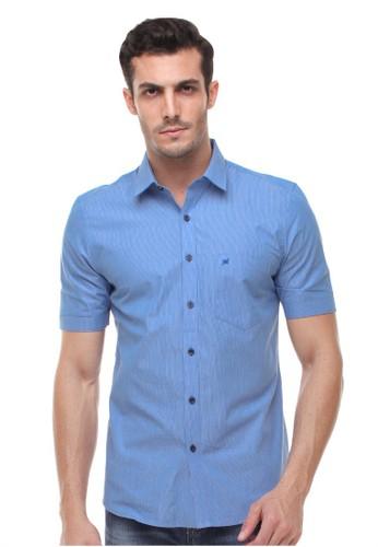 Johnwin blue Johnwin - Slim Fit - Kemeja Formal - Corak Garis - Biru 61C93AAA55BB4BGS_1