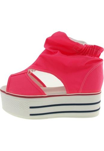 Maxstar 粉紅色 新款韩国鞋C50-Wrinkle時尚帆布布混合女粉紅色 US Women Size MA345SH66GUNTW_1