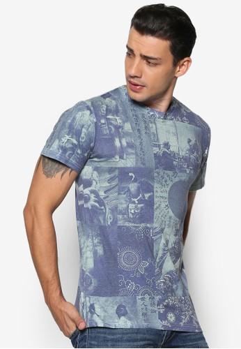 Broesprit台灣outletdy 時尚印花短袖TEE, 服飾, T恤