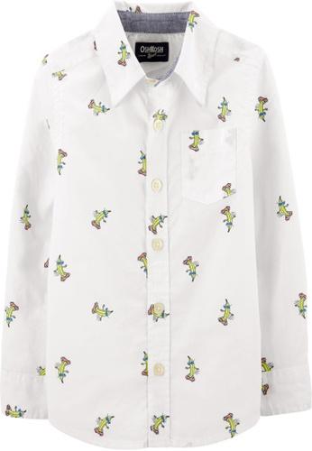 Oshkosh B'gosh white OSH KOSH Boy Banana Print Long Sleeve Shirt 74D56KA198E221GS_1