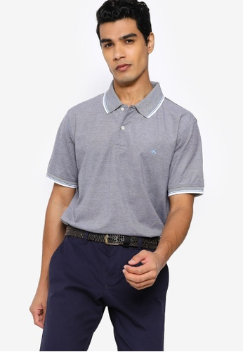 Brooks Brothers grey Casual Knit Polo Shirt E6240AAE922678GS_1