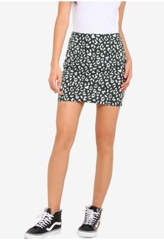 dd769d48f6 Something Borrowed green Mini Pelmet Skirt 0A923AA730F884GS_1