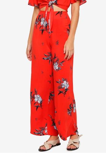 Miss Selfridge red Petite Paprika Floral Print Wide Leg BEA1EAA99F1E38GS_1
