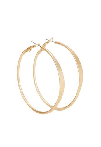 Parfois gold Gold Hoop Earrings 7CBB9ACFE319AAGS_1