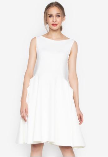 D Fashion Engineer white Hepburn Silhouette W/ Sabrina Neckline 4EE33AA7B05C6BGS_1