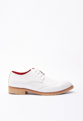 Kings Collection white Virotto Leather Shoes KI358SH35DGQSG_1