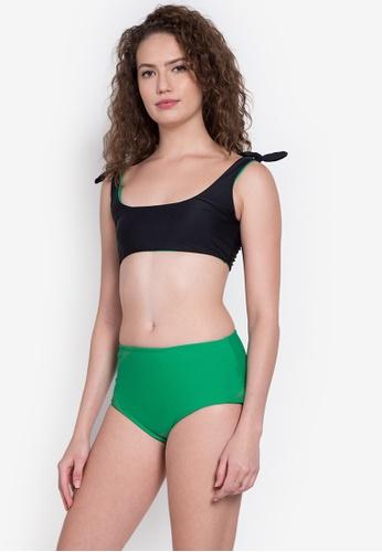 Kats Clothing black and green Sporty Two Piece     KA896US0KEGJPH_1