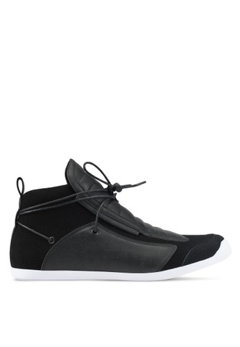 ZALORA black and multi High Top Sneakers with Extended Laces C22DCSHE304AD4GS_1