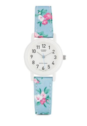 Casio 經esprit holdings limited典款花卉錶帶女性手錶, 錶類, 飾品配件