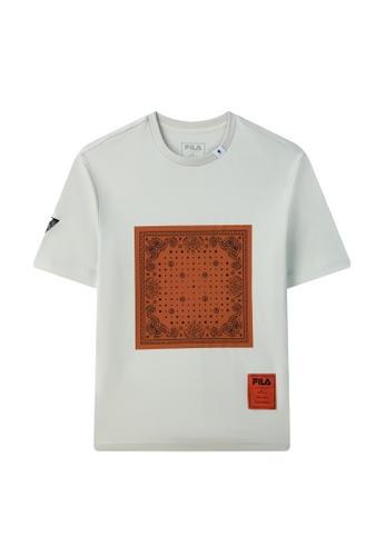 FILA grey FILA x Maison MIHARA YASUHIRO Paisley Print Cotton T-shirt CD613AA189A465GS_1
