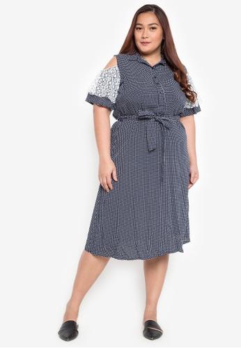 92448714fcc466 Shop Maxine Plus Size Cold Shoulder Shirt Dress Online on ZALORA Philippines