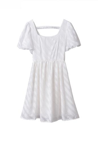 Twenty Eight Shoes white Classy High Waisted Puff Sleeve Dress JW GY-EY209 C1C9FAA093F8D3GS_1