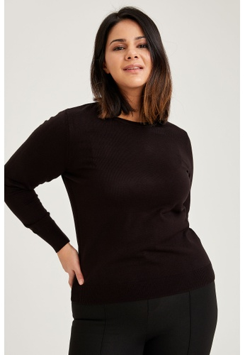 DeFacto black Woman Tricot Pullover 135B5AA85BAB03GS_1