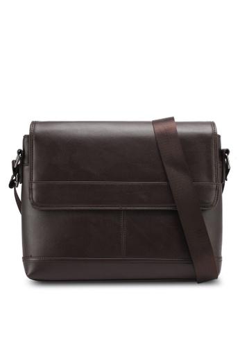 ZALORA brown Flap Crossbody Bag 56C03ZZ949683FGS_1