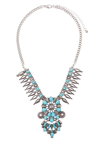LUCCACAL blue Brielle Statement Necklace LU294AC0S03ZMY_1