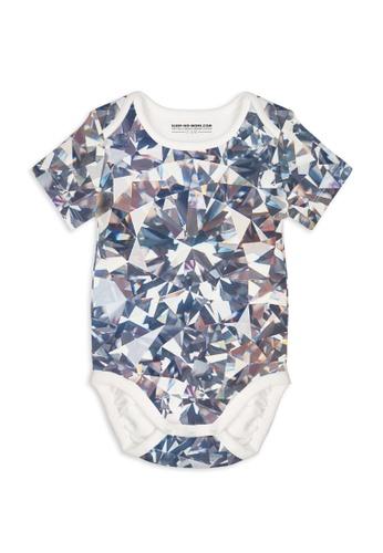 SLEEP NO MORE silver Organic Short Sleeve Bodysuit - DIAMOND C47E4KA1B148A6GS_1
