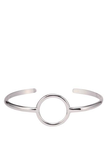 Orelia London silver Circle Open Bangle OR747AC0SC56MY_1