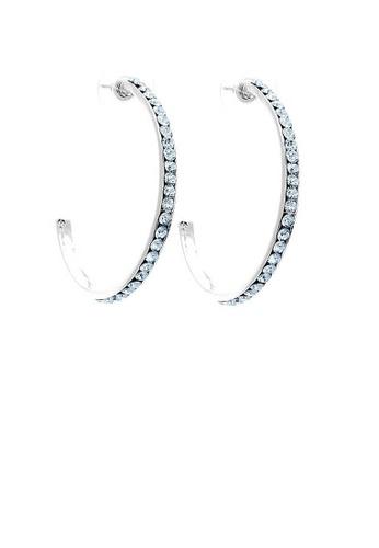 Glamorousky blue Circular Earrings with Blue Austrian Element Crystals E6F05AC4A21B31GS_1