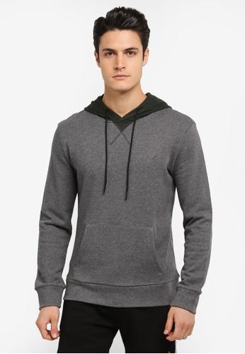 JAXON grey Hooded Logo Pullover 6FF19AA601E03CGS_1