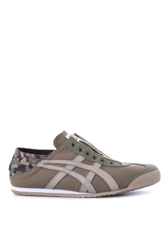 Onitsuka Tiger brown and green Mexico 66 Paraty Sneakers ON625SH15FIAPH_1