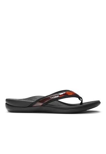 Vionic brown Islander Toe Post Sandal 15A98SH47A4722GS_1