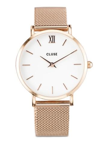 CLUSE 金色 Minuit Mesh Rose Gold CL30013 Watch CL977AC0RDBTMY_1