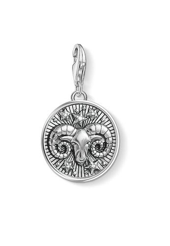 """THOMAS SABO silver Charm pendant """"zodiac sign Aries"""" 7F2D7AC0BC9D21GS_1"""