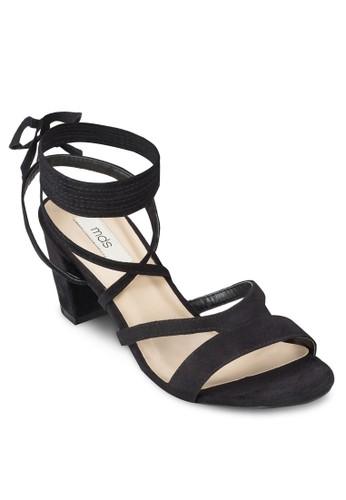 Elida 交叉多帶粗跟涼esprit home 台灣鞋, 女鞋, 知性女強人