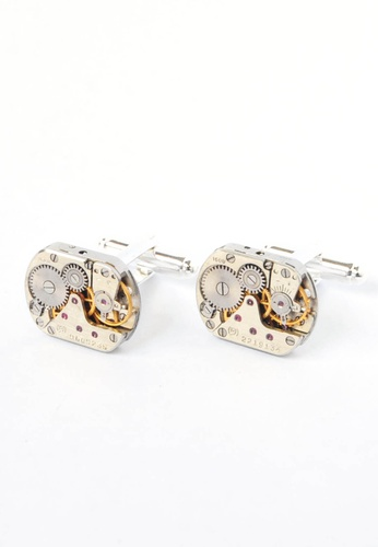 Splice Cufflinks silver Small Rectangular Watch Movement Cufflinks SP744AC82CQBSG_1