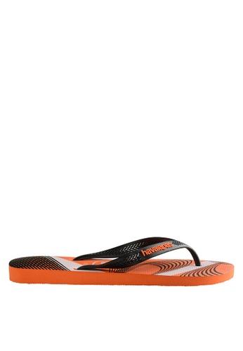 Havaianas orange Aerographic 17 Flip Flops HA021SH0JPZ4PH_1