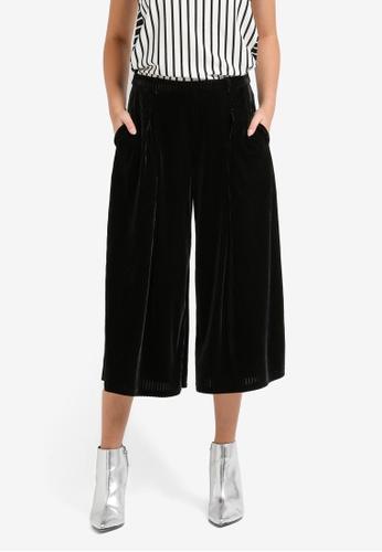 Something Borrowed black Pleated Culottes 0F9CFAADC68D6AGS_1