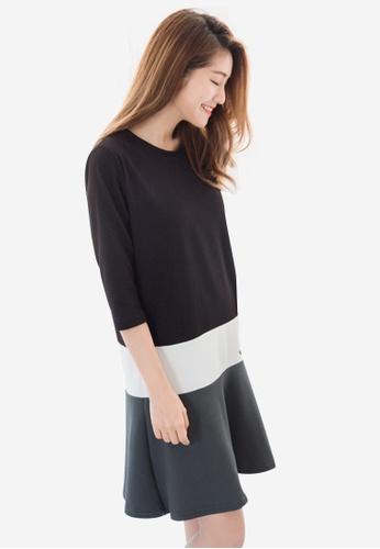 Sesura black That Sweet Blocked Dress A40FBAA6652D2EGS_1