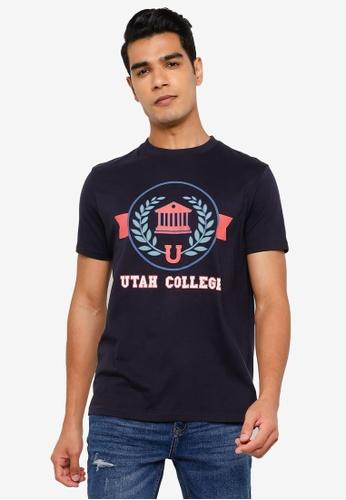 Springfield navy Varsity T-Shirt 3C24CAA81AFC6FGS_1