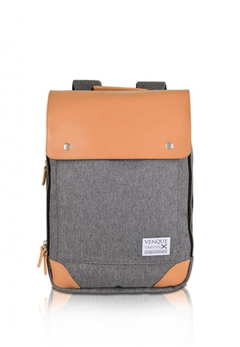 Venque grey 002 Backpack - Medium 770E1AC6938AAAGS_1