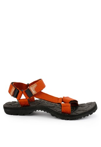 CARVIL orange and multi Carvil Sandal Sponge Gunung Man Santiago Black Terracotta 1FF39SHADDED23GS_1