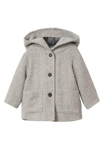MANGO BABY grey Hooded Herringbone Coat 3D2BBKA7B1318BGS_1