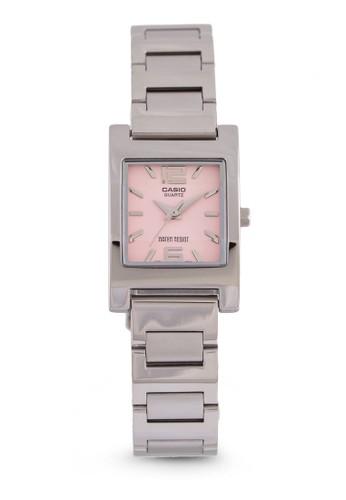 Casio LTP-1283D-4ADF 方框細鍊錶, 錶類, 不銹鋼錶zalora 心得帶