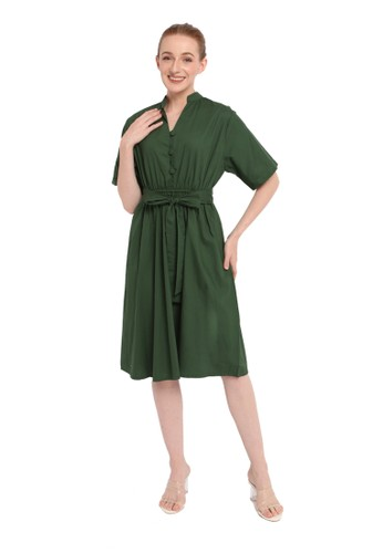 INSTYLE BY SURI green Jade Dress in Green 0226AAA738E388GS_1