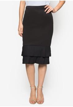 Collection Tiered Hem Midi Skirt