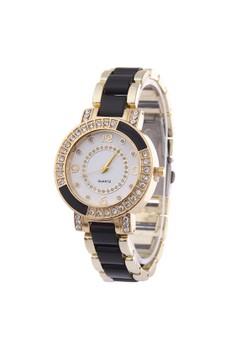 Shining Roman Plastic-belt Quartz Wristwatch SY-5