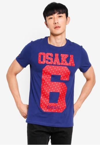 Superdry 藍色 Osaka Medium T恤 E597EAADBC69B0GS_1