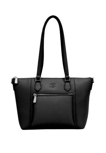 Santa Barbara Polo & Racquet Club black Santa Barbara Polo & Racquet Club Full Leather Shopper Bag 645F3ACB30D686GS_1