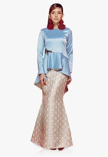 Farraly Embun Kurung from FARRALY in Blue